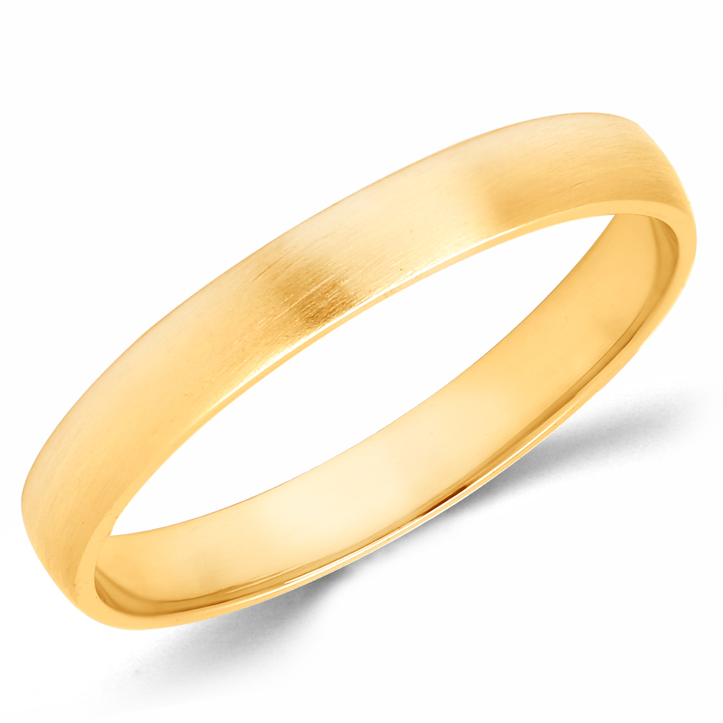 10k Solid Yellow Gold 8mm Size 7 Plain Mens and Womens Wedding Band Ring 8 MM