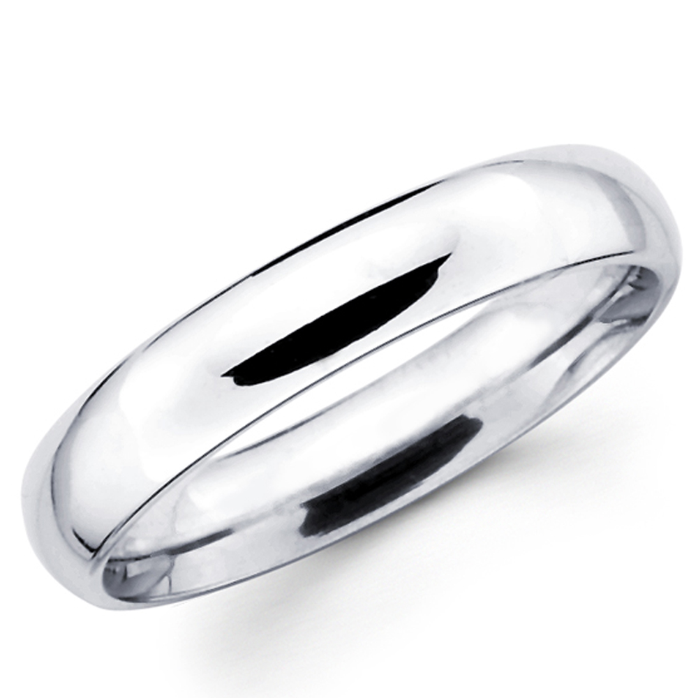 Solid 14K White Gold 2mm 3mm 4mm 5mm 6mm Comfort Fit Men Women Wedding Band  Ring | eBay